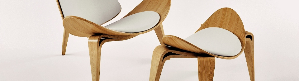 hans wegner s shell chair complement design foot stool
